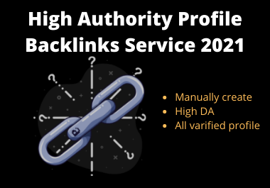 High Authority 200 profile backlinks DA 80+ for SEO ranking