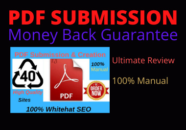 manually 20 PDF accommodation to high authority website low spam score domain permanent backlinks