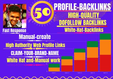 I Will Create 50 do Follow HQ SEO Profile Backlinks