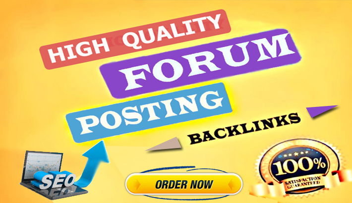 I will create 40 HQ manual forum posting backlinks