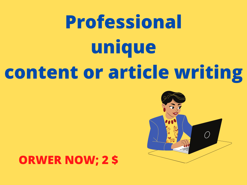 I will write 1000 words article or content writing service