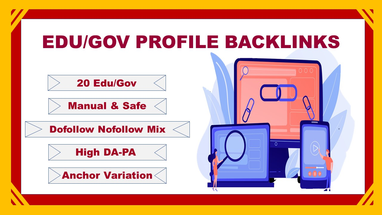 20. EDU/. GOV Manual Profile Backlinks