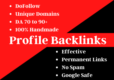 Handmade 50 Profile Backlinks From High Authority Websites