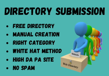 Manually Created 50 Directory Submission Backlinks To Rank Up Website