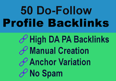 High Quality 50 Manual Profile Backlinks To Boost Website Ranking
