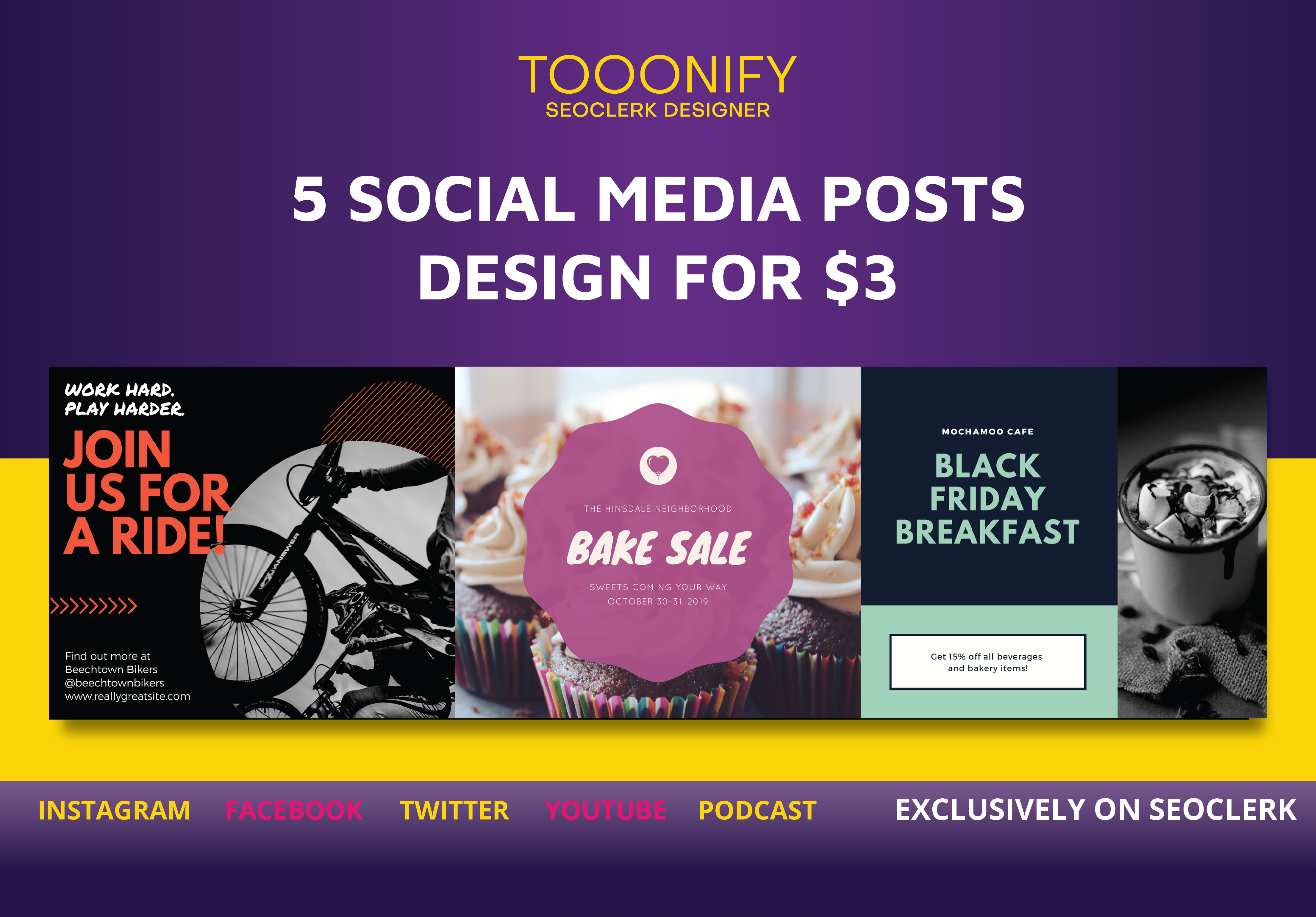 I will design 5 creative social media posts