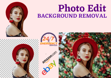 Do 25 Background removal/Background Change in 5 hours