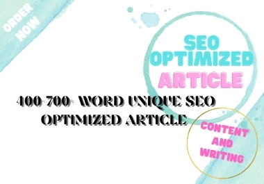 Boost your website ranking with our 400-700+ word SEO optimized article on unique content