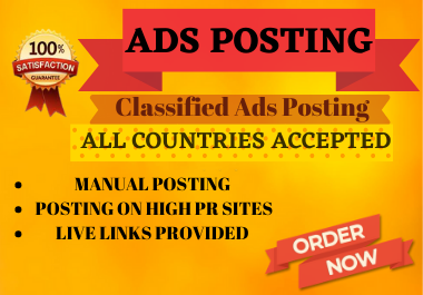 I will post 10 classified ads on top ads posting sites to get more traffic on your business.