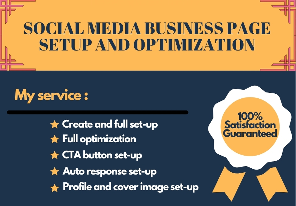 I will create a professional Social media business page.