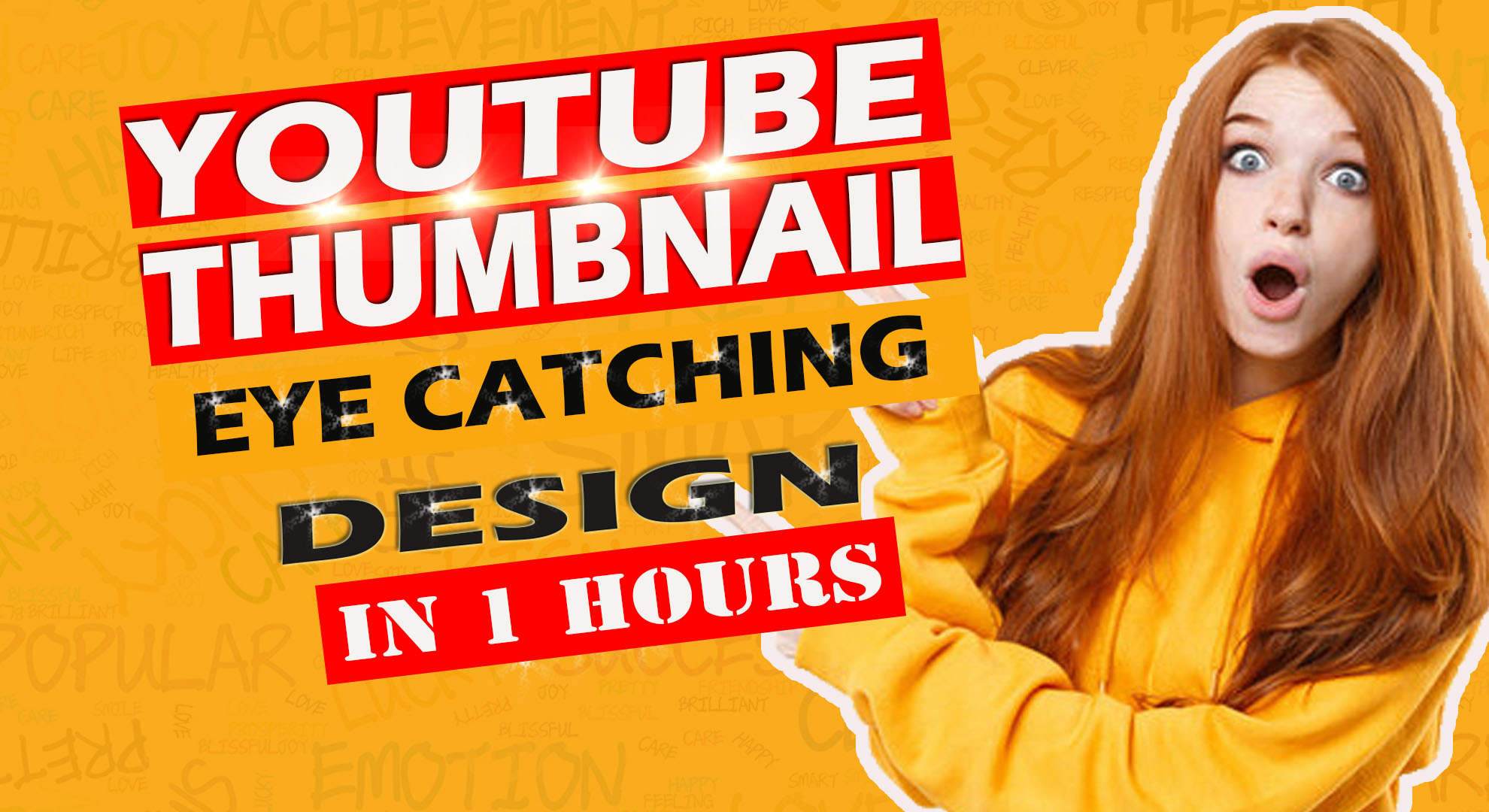I will design amazing youtube thumbnail in 1 hour
