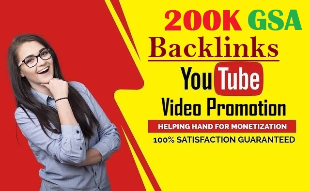 High Quality Verified 200,000 GSA SEO YOUTUBE Backlinks