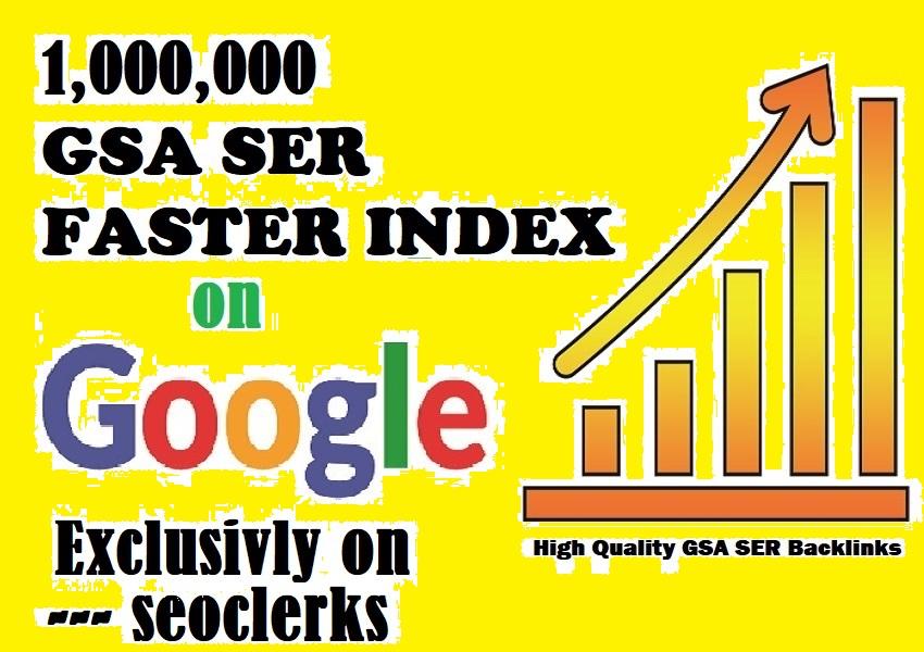 I will Build Verified 1 Million GSA SEO Backlinks