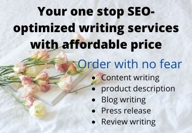 1000+ words of SEO-optimized content writing with any topic