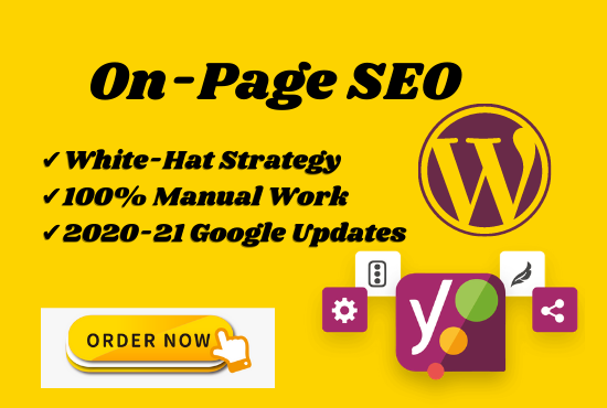 I will do on-page SEO or technical optimization for WordPress