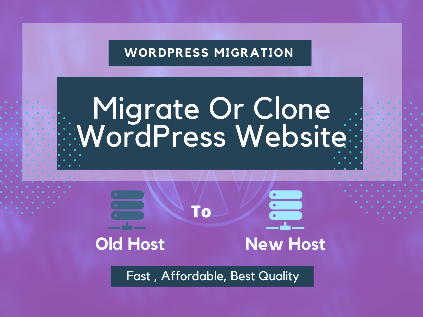 I will transfer clone migrate WordPress website in 1 hours