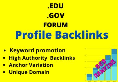 100 Manual .GOV, .EDU, Forum Profile Backlinks On SERPs Ranking
