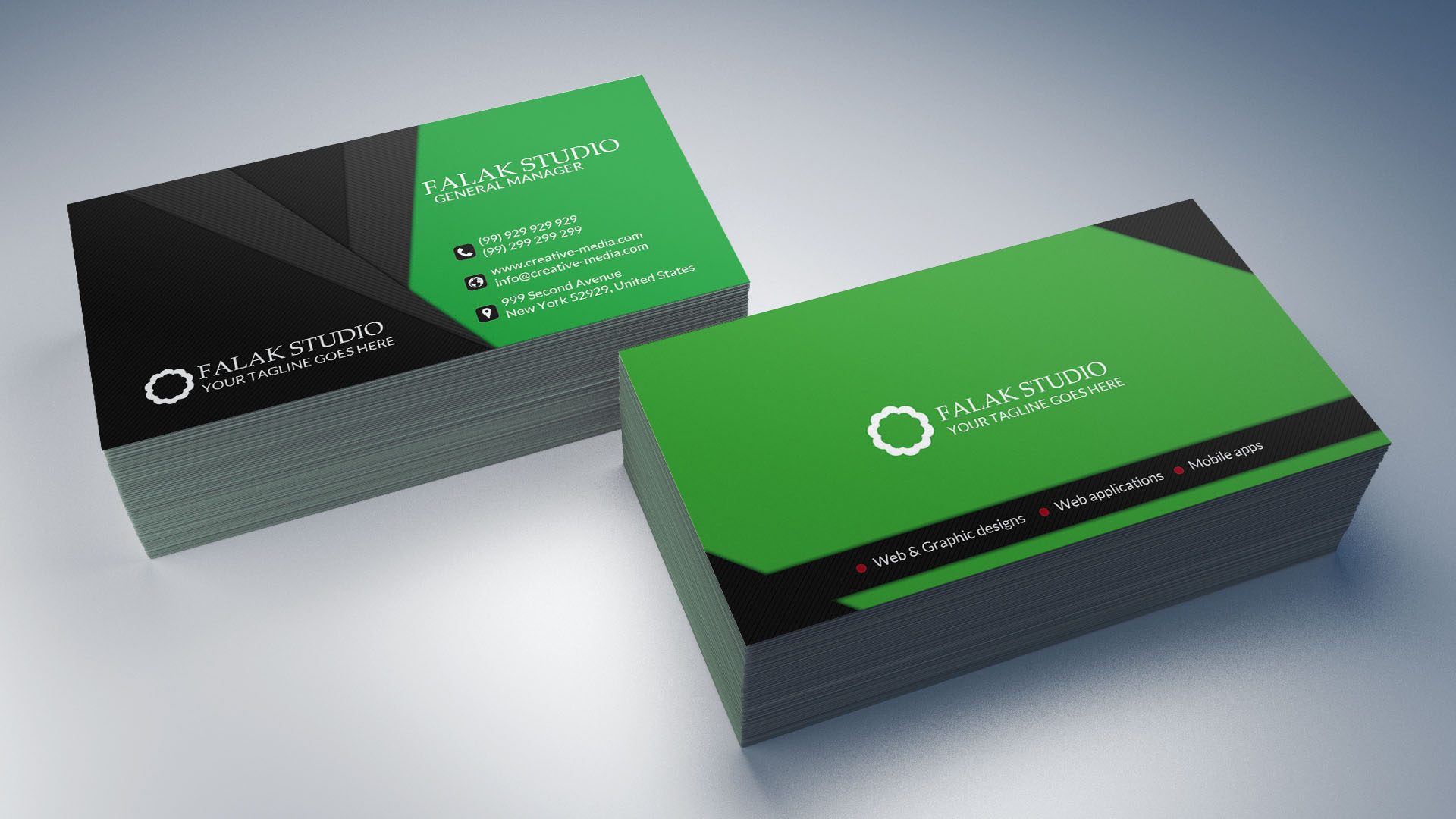 luxury business card,  thank you card Design