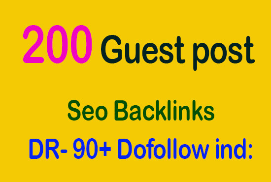 50+ guest post seo backlink on DR 90 dofollow indexed premium website