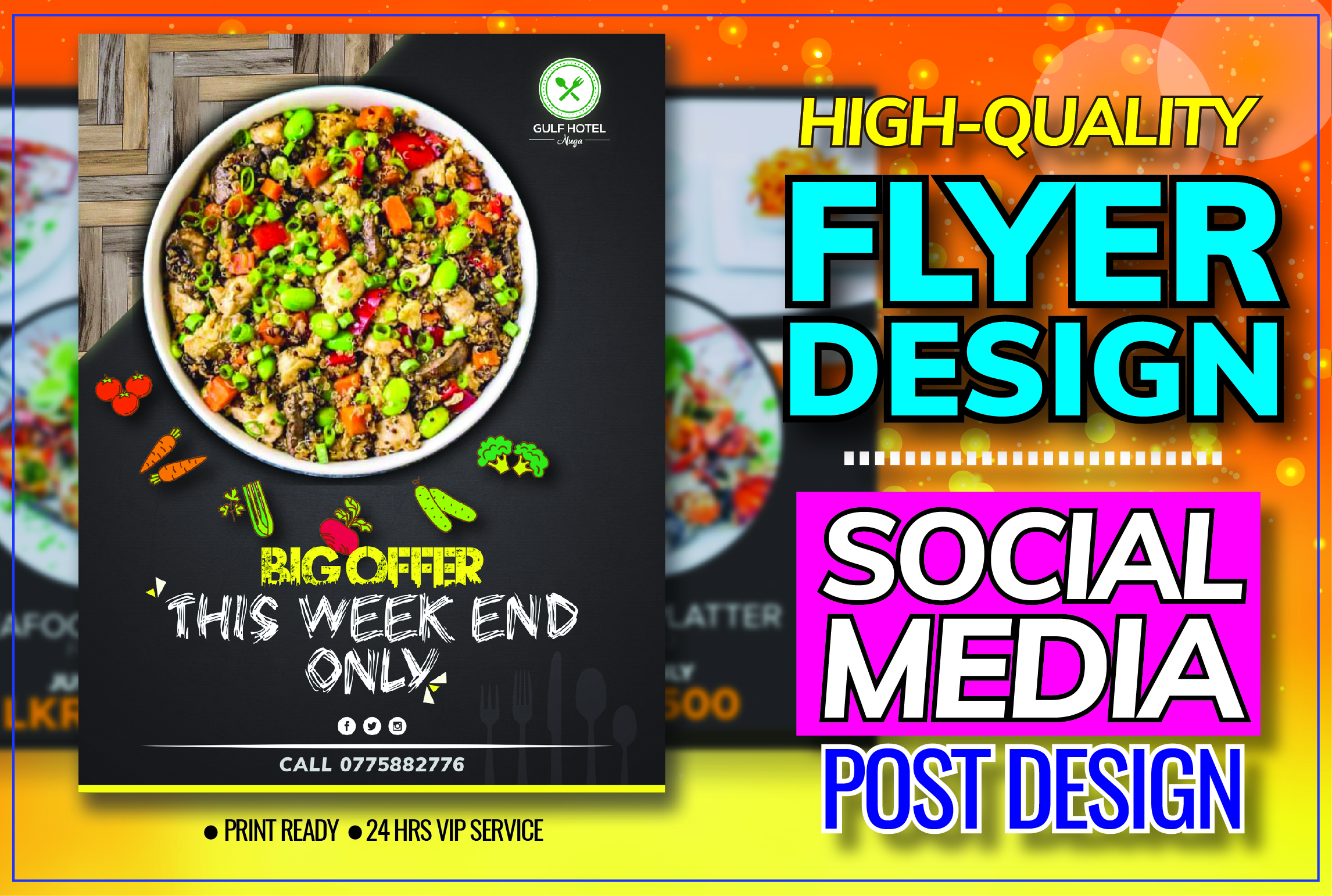 I will design a amazing flyer,  banner,  poster,  brochure,  poster,  business cards