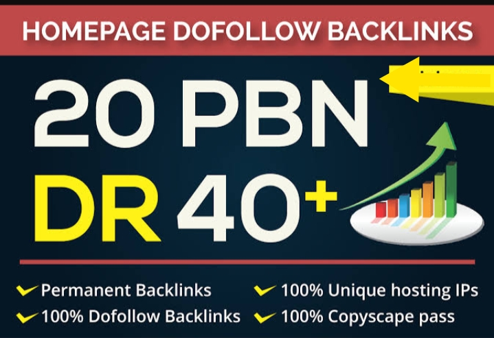 Build 20 High Quality Dofollow DR 40+ to 60 Casino,  Judi,  Poker,  Gambling HQ PBN Backlinks
