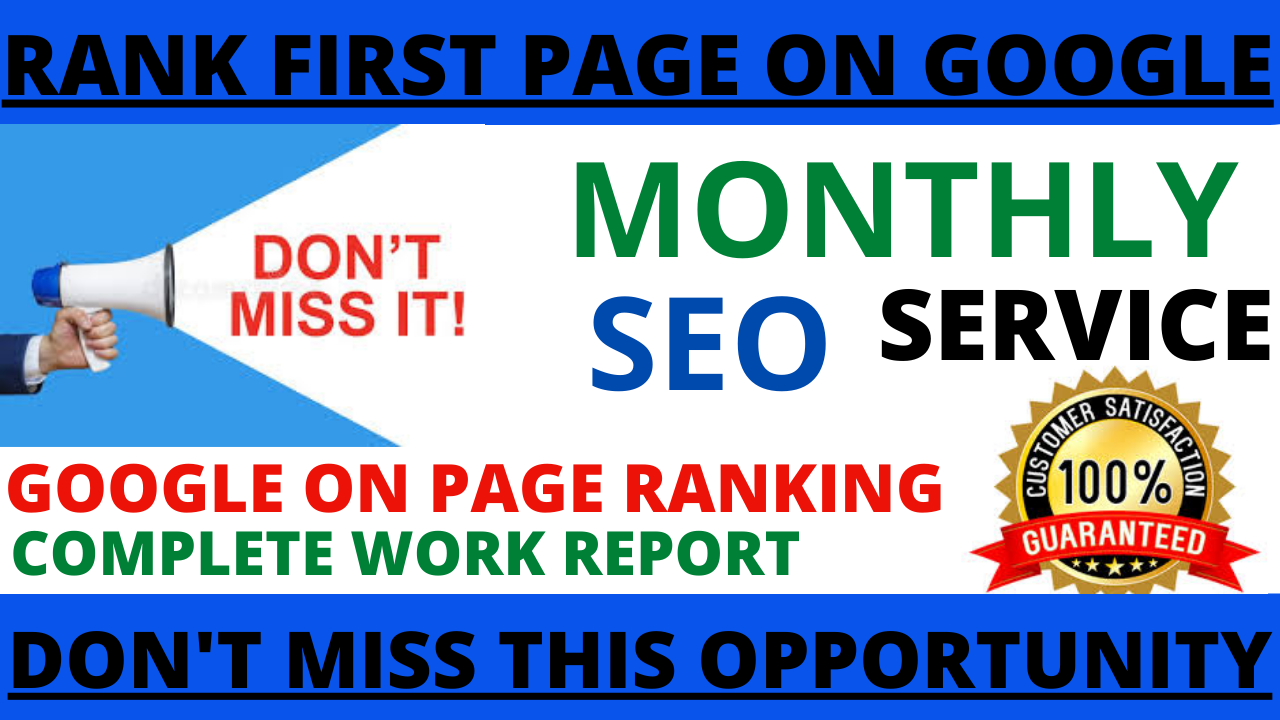 I will build a best monthly SEO dofollow backlinks