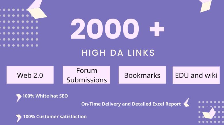 I will build 2000+ ultra SEO high authority backlinks