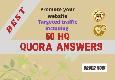 I will promote your website by HQ 50 Quora Answers