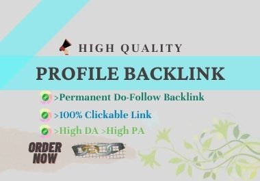 I will build 50 High DA Do Follow Profile Backlink manually