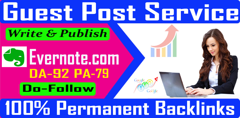 Write and publish high quality guest posts on DA91 with permanent backlinks