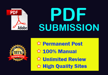 20 PDF Submission on High authority website low spam score website permanent backlinks