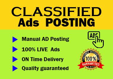 20 Manual High Authority Ads Posting on high DA website Live link permanent backlink