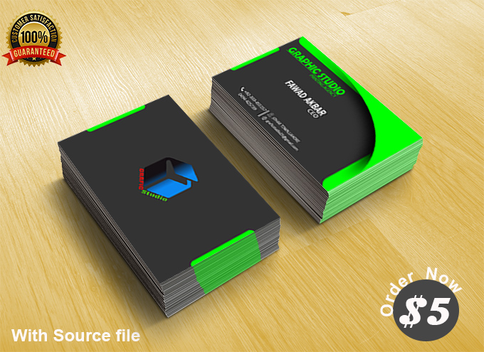 I will design your Business card with Mockup