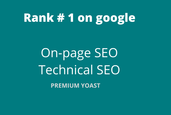 I will do YOAST ON-Page SEO and optimization