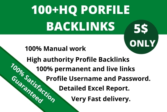 Create manual HQ profile backlinks for your website
