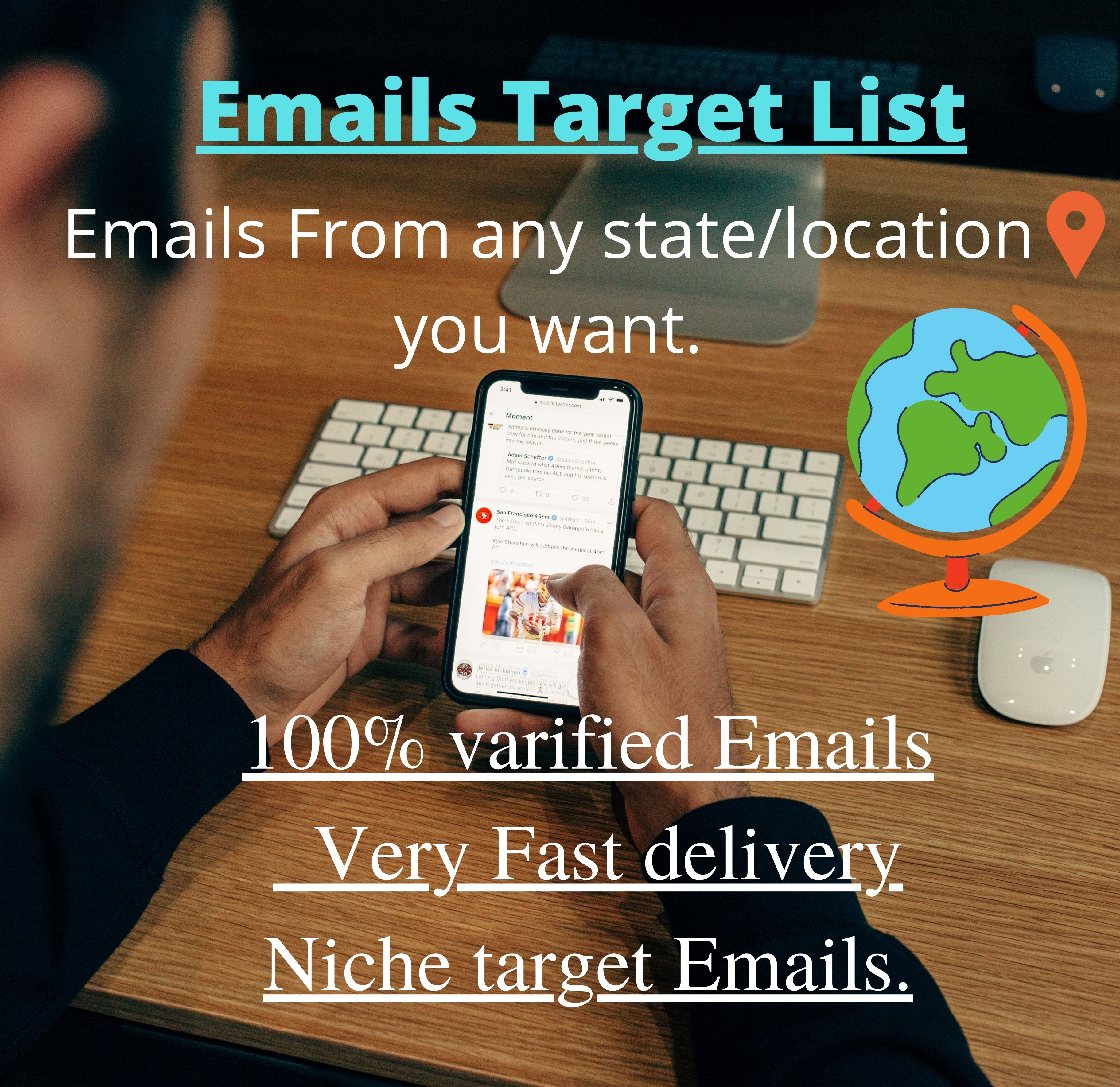 I will collect and provide 1500 niche targeted emails list