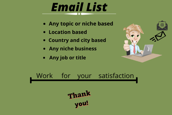 I am provide active and targeted email list