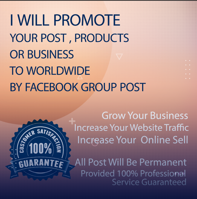 I will promote your Business, Products,  link,  or post to Worldwide