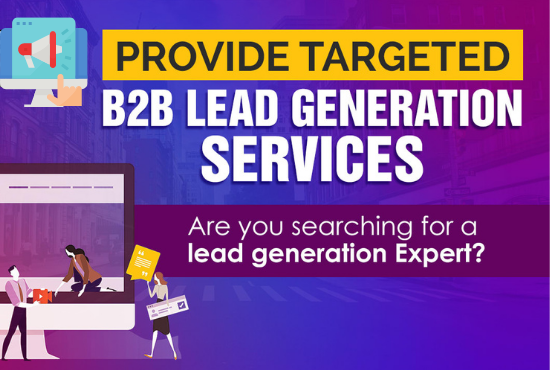 I will do targeted b2b lead generation email list building