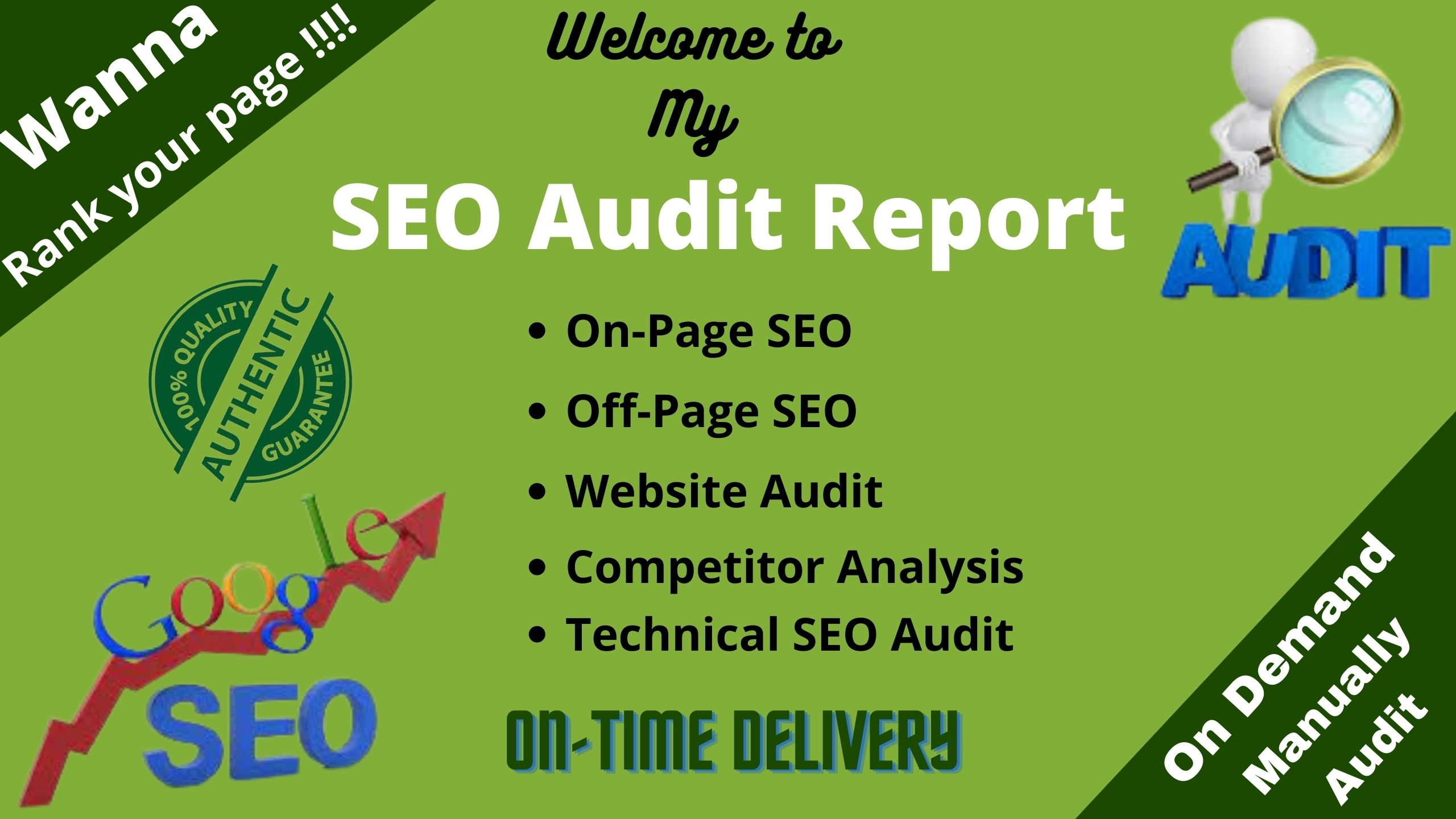 I will analysis website and provide professional seo audit report