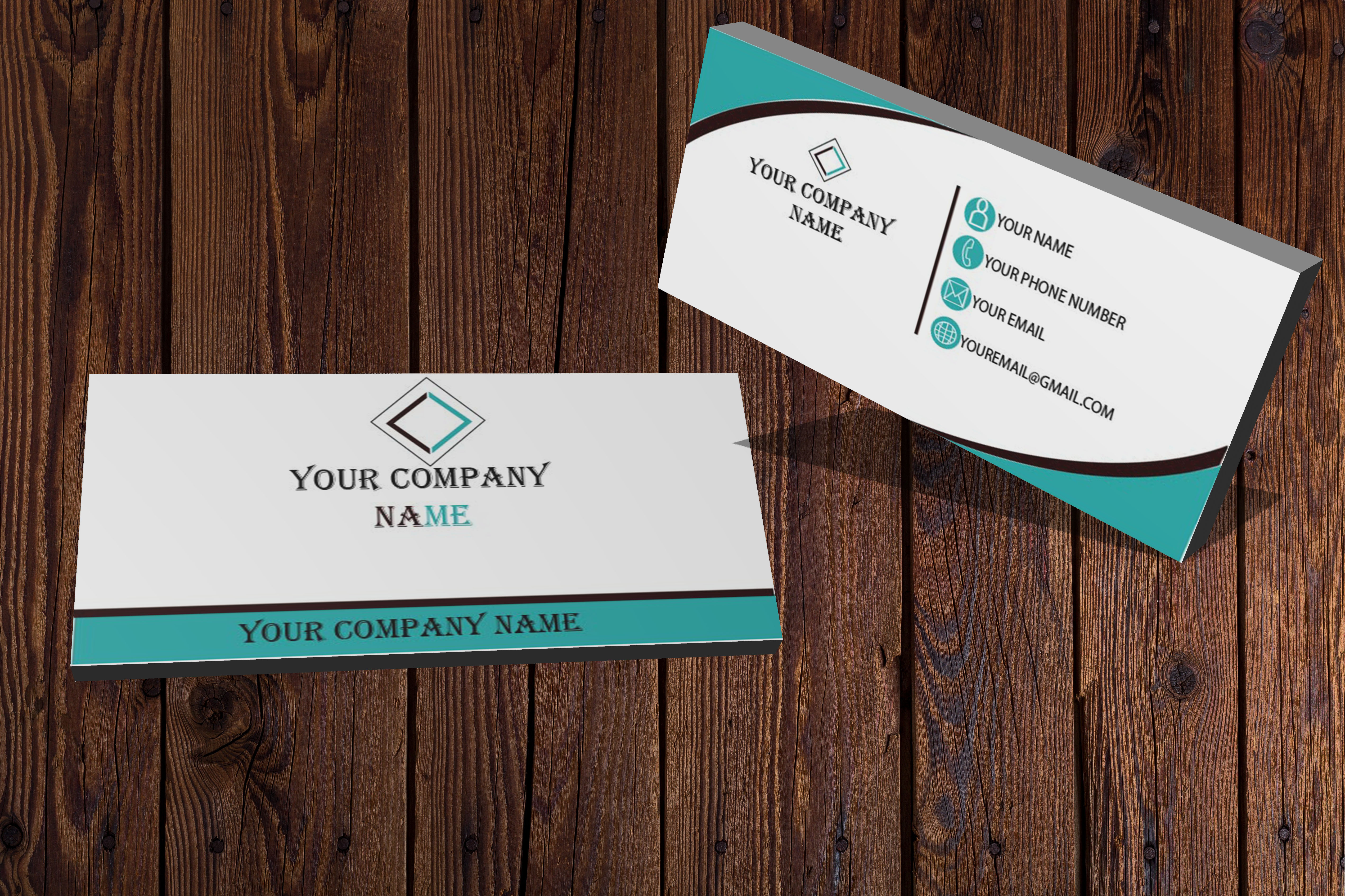 I will create a modern business card