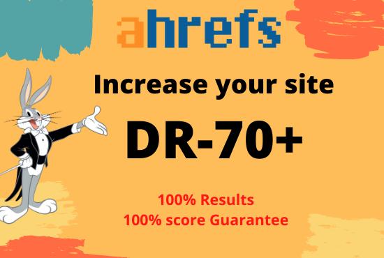 i will increase dr 70 plus on ahrefs guarantee score