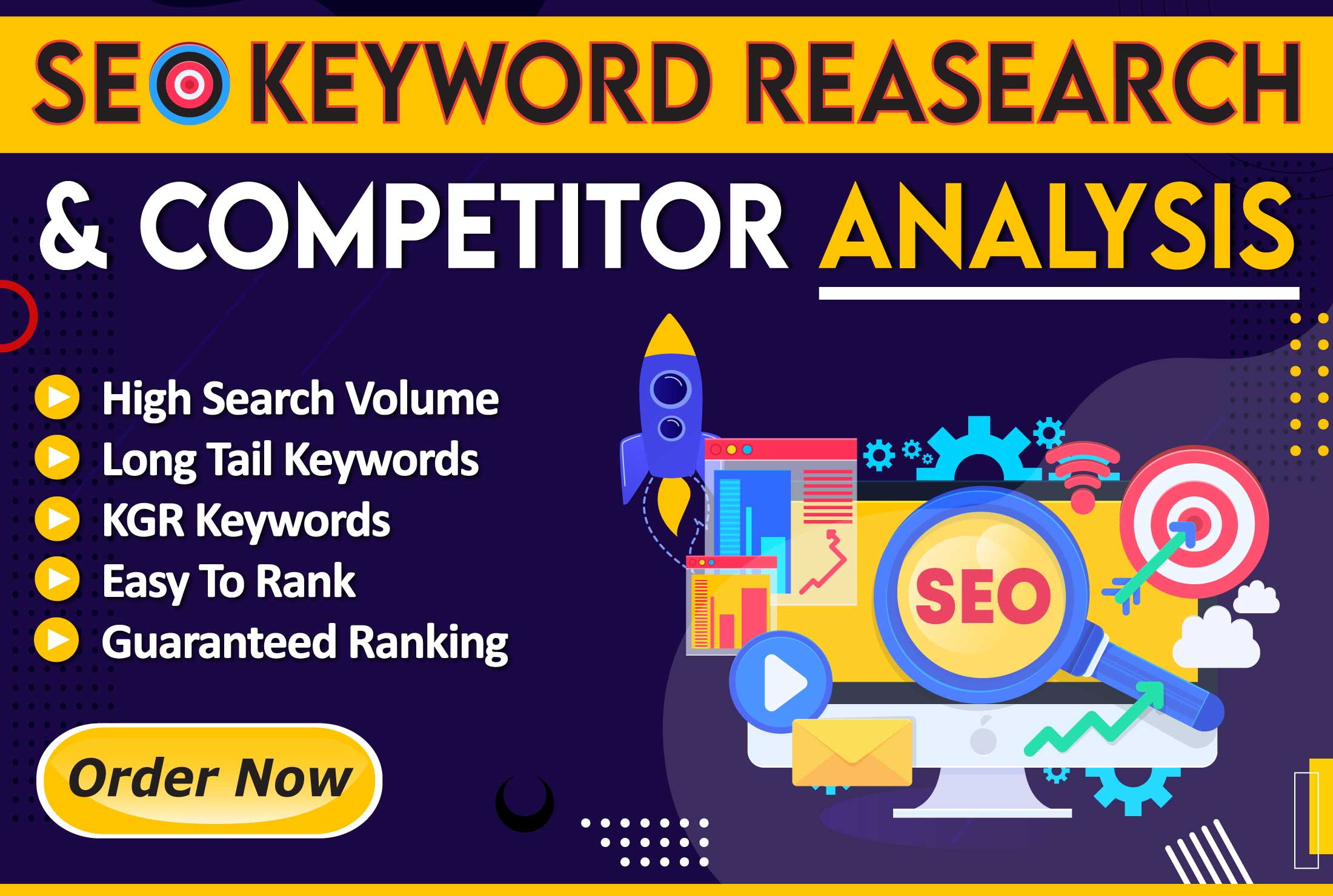 I will do effective SEO keyword research and competitor analysis for ranking