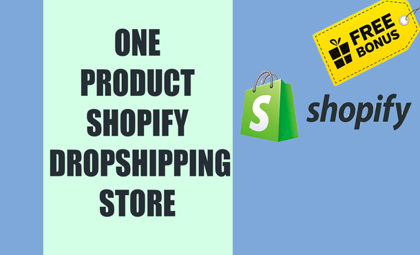 I will create high converting one product shopify store,  shopify drop shipping