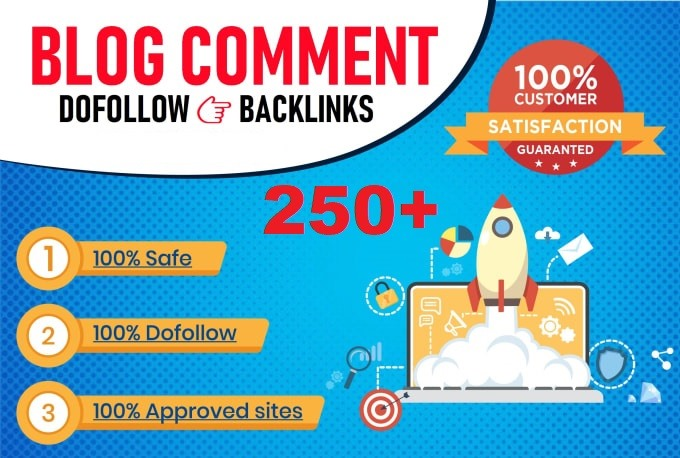 I will create 250+ blog comment backlinks,  high da pa ranking