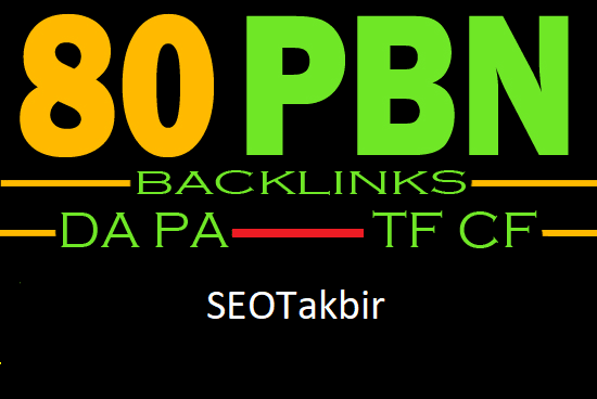 I will do 80 pbn backlinks high authority sites