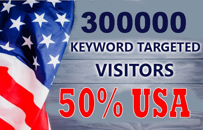 300,000 real keyword targeted USA web traffic for your website