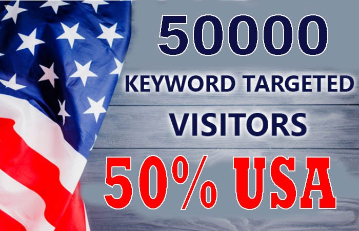 50,000 real keyword targeted USA website traffic