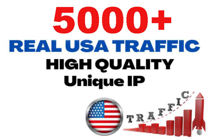 5000+ Unique USA Targeted Website Traffic to your website