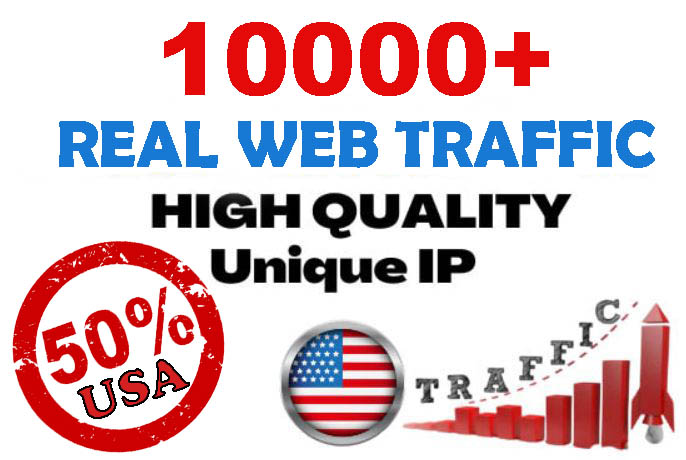 10000+ Unique Website Traffic 50 percent USA to your website